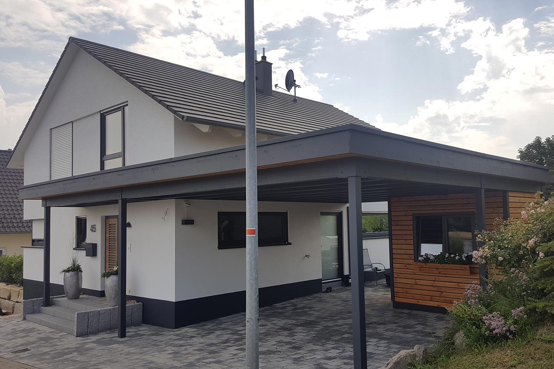 Carport & Geräteraum | LEINS HOLZBAU in Bietenhausen / Rangendingen | Zimmerei und Innenausbau
