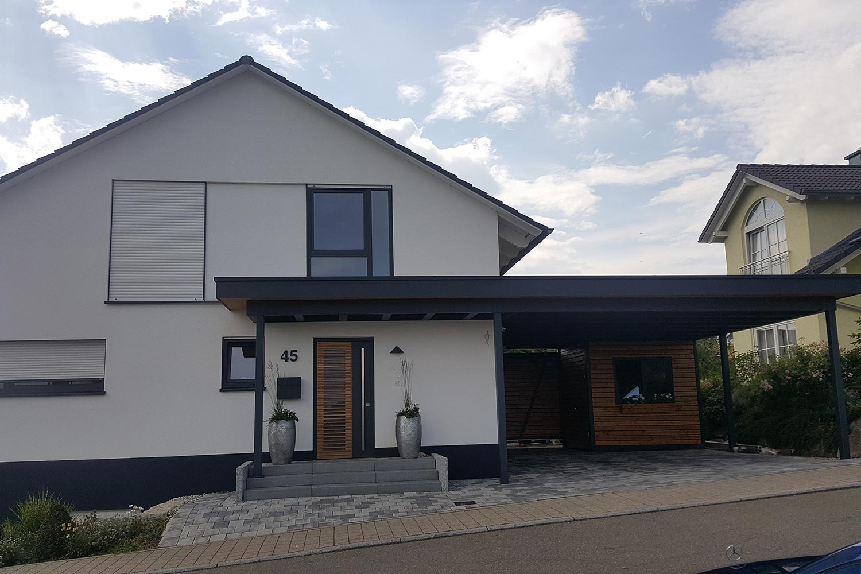 CARPORT & GERÄTERAUM - LEINS Holzbau GmbH in Bietenhausen