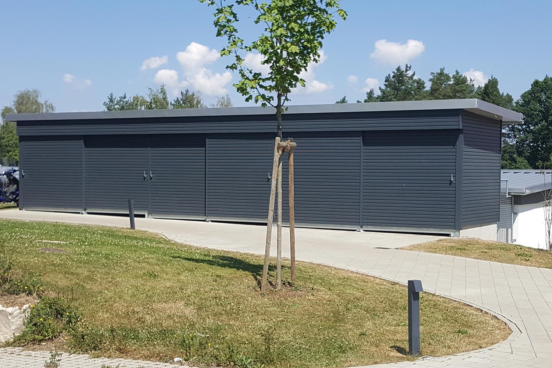 Fassade von LEINS HOLZBAU in Bietenhausen / Rangendingen | Zimmerei und Innenausbau